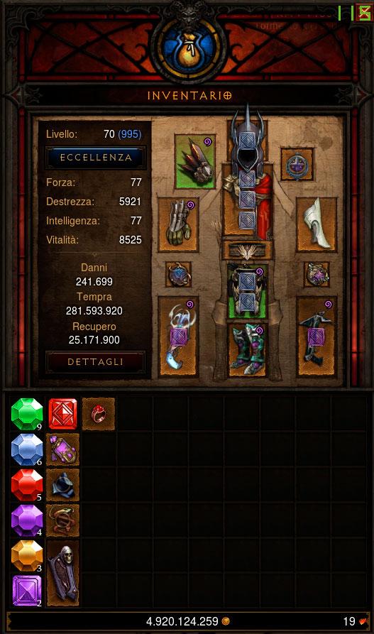 Diablo 3: Inventario Demon Hunter